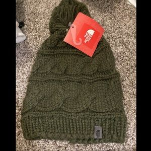 North face olive green toque/beanie